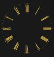 roman numeral clock vector image vector image
