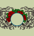 Rose and flora pattern scene vector image vector image