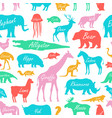seamless pattern with animal zoo vector image