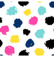 seamless pattern with colored dots vector image