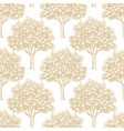 Seamless pattern with orange trees