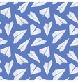 Seamless pattern with white paper planes vector image