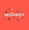 security text concept modern flat style vector image