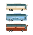set different buses vector image