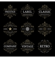 Set of retro vintage luxury logo templates vector image vector image