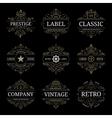 set retro vintage luxury logo templates vector image vector image