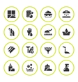 Set round icons of cleaning vector image vector image