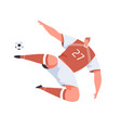 soccer player falling to score hit or return ball vector image vector image