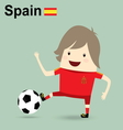 spain national football team businessman happy is vector image