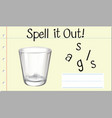 spell english word glass vector image