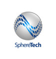 sphere technology logo concept design symbol vector image vector image