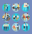 start up people set poster vector image vector image