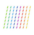 striped colorful drinking straws vector image vector image