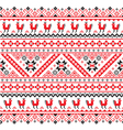 Ukrainian Belarusian red and black embroidery vector image vector image