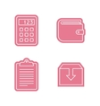 Universal sticker icons set vector image vector image