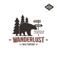 Vintage wild emblem Retro wilderness patch vector image vector image