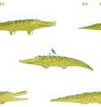watercolor crocodile pattern vector image