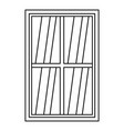 white rectangle window icon outline vector image vector image