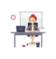 Woman at Office Daily Routine Activities of Women vector image vector image