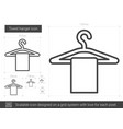 towel hanger line icon vector image