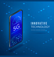5g concept fifth generation mobile wireless vector image vector image