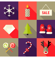 9 Christmas Flat Icons Set 7 vector image vector image