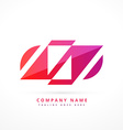 abstract colorful logo design vector image