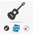 Acoustic guitar sign icon Music symbol vector image vector image