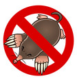 anti mole sign vector image vector image