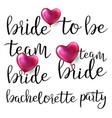 bachelorette party text vector image vector image
