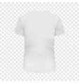 back of white tshirt mockup realistic style vector image vector image