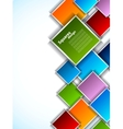 Background with colorful squares vector image vector image