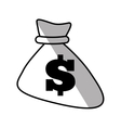bag money dollar cash shadow vector image
