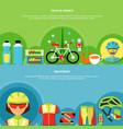 bike banners set vector image vector image