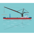Black floating crane vector image vector image