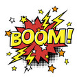 boom phrase in speech bubble comic text bubble vector image