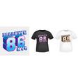 brooklyn 86 nyc t-shirt print for t shirts vector image