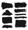 brush strokes grunge collection vector image