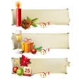 Christmas paper banners vector | Price: 3 Credits (USD $3)