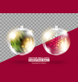 christmas tree decoration xmas bauble set vector image