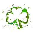 clover and drops vector image