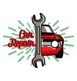 Color vintage Car repair emblem vector image vector image