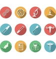Colored icons for genetics vector image vector image