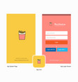 company fires splash screen and login page design vector image