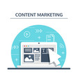 content management smm and blogging concept in vector image vector image