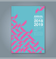 cover annual report 864 vector image