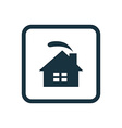 cozy home icon Rounded squares button vector image vector image