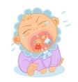 cute baby crying vector image vector image