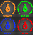 dollar money bag icon Fashionable modern style In vector image vector image