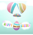 easter egg parachuting from broken egg vector image vector image